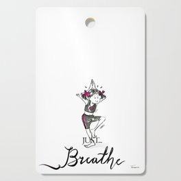 Just Breathe Yoga Art Cutting Board