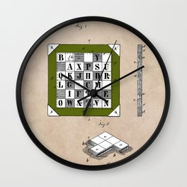 patent Kinsey Puzzle Blocks 1878 Wall Clock