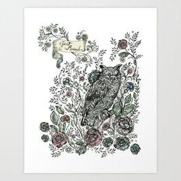 Spirit Animal: Owl. Art Print