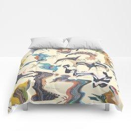 Skewed Birds Comforters