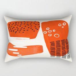 Fun Abstract Minimalist Mid Century Modern Fun Playful Organic Orange Watercolor Shapes Rectangular Pillow