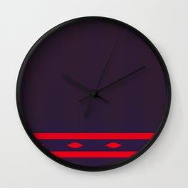 Fractal Art Red Ellipses On Warm Brown Wall Clock
