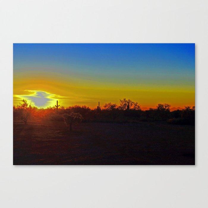 AZ Desert Sunset Canvas Print