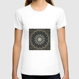 Decorative Black Ink Bohemian Mandala T-shirt