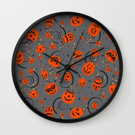Halloween Magic-Gray Wall Clock