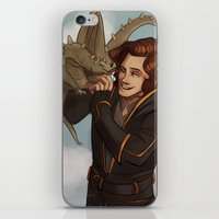 dungeons and dragons iPhone & iPod Skins featuring Dragons and Direction: Harry by invisibleinnocence