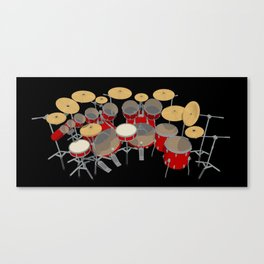 Large Drum Kit Canvas Print