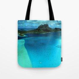 Bora Bora Lagoon Aerial Tote Bag