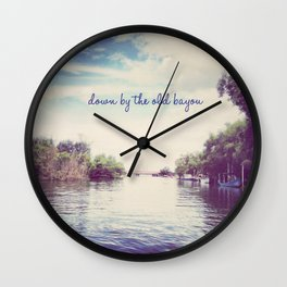 DOWN BY THE BAYOU Wall Clock