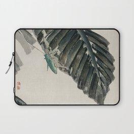 Grasshopper on Leaf Laptop Sleeve