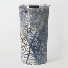 Aged Floral Skeleton Cyanatope Print Travel Mug