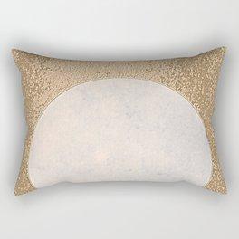 Avalon - Minimal Abstract Golden Moon Rectangular Pillow