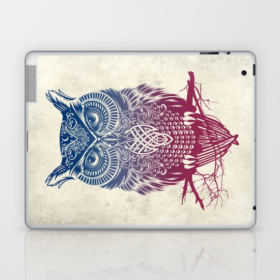 Evening Warrior Owl Laptop & iPad Skin