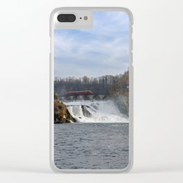 Red Arrow At Rhine Falls Clear iPhone Case