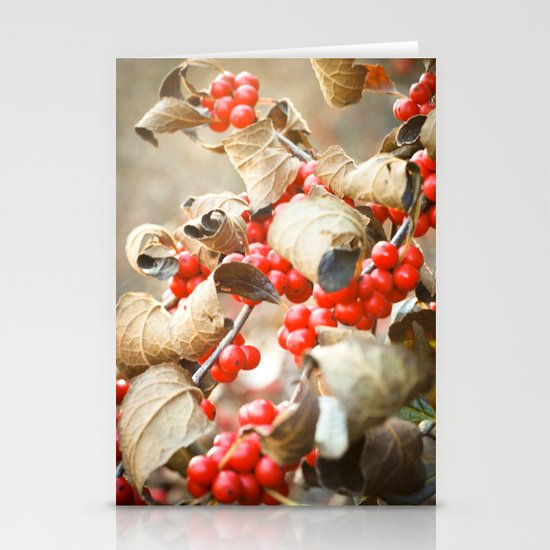 Winter Berries Stationery Cards