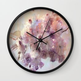 Vintage Beauty, Flower Blossoms Wall Clock
