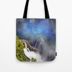 Wild waterfall in abstract Tote Bag