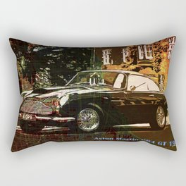 Aston Martin DB4 GT 1960 vintage classic car on New Orleans colorful map Rectangular Pillow