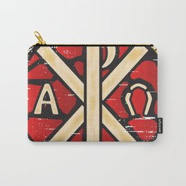 Alpha Omega Stained Glass Carry-All Pouch