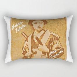 Nakano Takeko- Aizu Samurai Rectangular Pillow