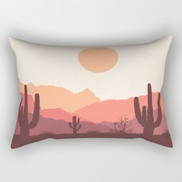 Mexican desert sunrise Rectangular Pillow