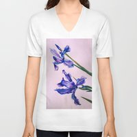 blues V-neck T-shirts featuring Blues by alittleart