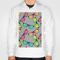 sunglasses Hoodies featuring Sunglasses Pattern by Karolis Butenas