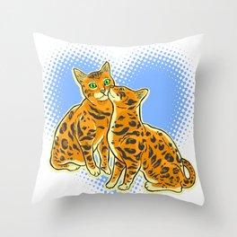 SmoochyCats Throw Pillow