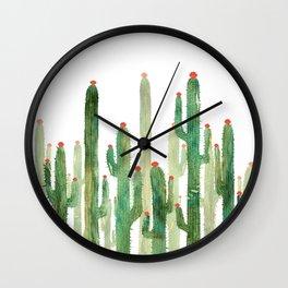Cactus 4 Wall Clock