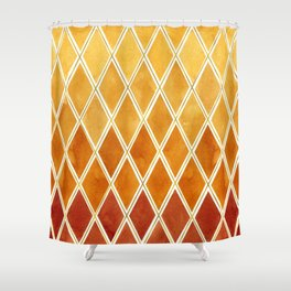 Autumn colors and  gold texture Shower Curtain