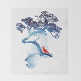 The last apple tree Throw Blanket