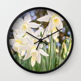 Kiss of Spring Wall Clock