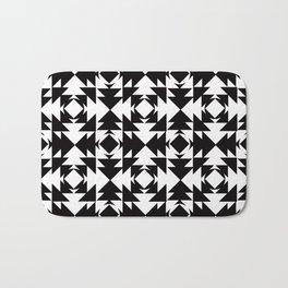 Modern Aztec Black & White Bath Mat