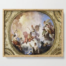 Fresco on Ceiling in Paris Serving Tray