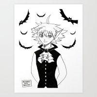 The Littlest Vampire Art Print
