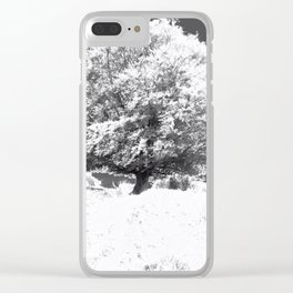 Snow Tree Clear iPhone Case