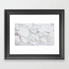 Calacatta Marble Framed Art Print