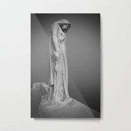 Statue in the mist Metal Print