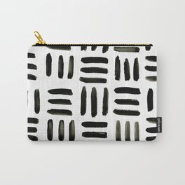 Brush and Ink Mudcloth Pattern Carry-All Pouch