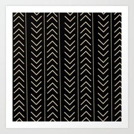 Mudcloth Black Art Print