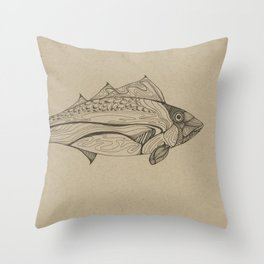 Fishy Line Throw Pillow