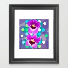 Orchid Spot Collage Framed Art Print