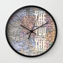 study the past Wall Clock