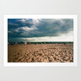brighton storm Art Print