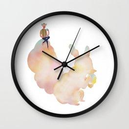 daydream: brunch up high Wall Clock
