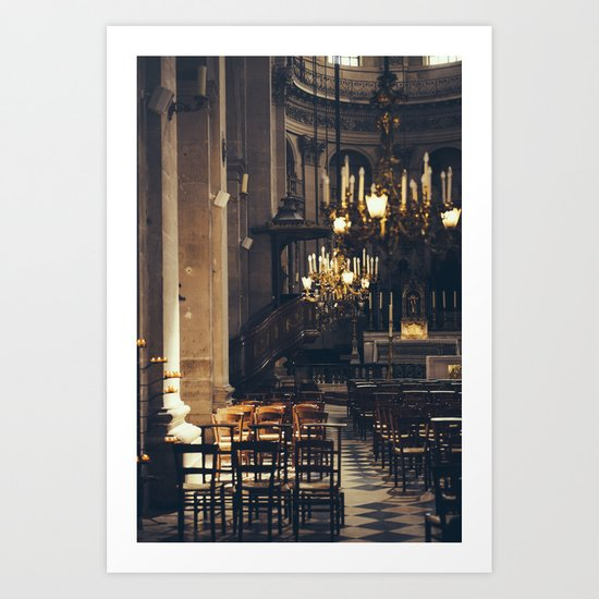 Interior of the Eglise Saint Paul Art Print