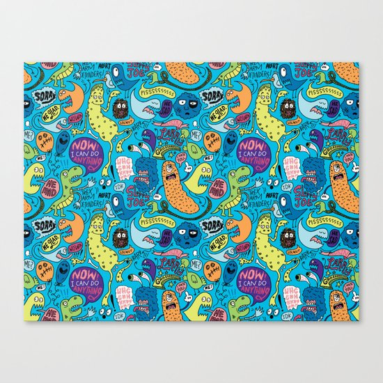 Gettin' Loose Pattern Canvas Print