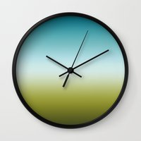 woodland Wall Clocks featuring Woodland by Petr Sulc