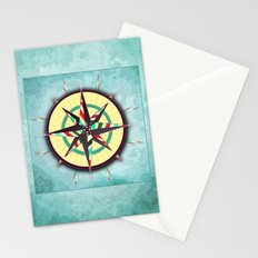 Striped Compass Rose Stationery Cards