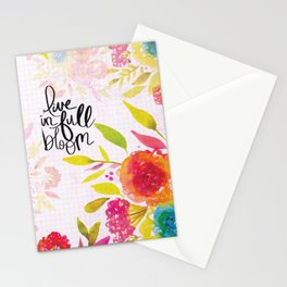 Live in Full Bloom Stationery Cards